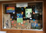 These are original, free choice projects created by 7th graders at HJHS using a variety of 2D dry materials.