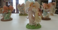 Seraphim Angel collection belonging to Lisa Shaffer. Seraphim Angels became America's best-selling angels shortly after their introduction in 1993. This is a sampling of over 100 angels in the collection.
