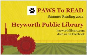 Paws to Read Banner 2014